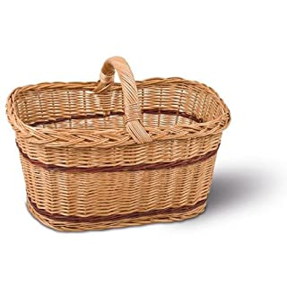 Shopping Basket, Wicker Basket, Universal Basket Made from willow, dimensions: 500 x 340 x 250 MM