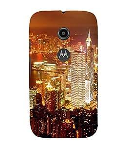 ifasho Designer Back Case Cover for Motorola Moto E2 :: Motorola Moto E Dual SIM (2nd Gen) :: Motorola Moto E 2nd Gen 3G XT1506 :: Motorola Moto E 2nd Gen 4G XT1521 (Cities Santiago Chile Brahmapur)