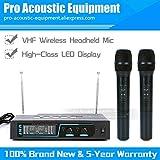 HITSAN INCORPORATION Professional 2 x Channel Handheld Transmitter Receiver VHF Wireless Microphone System For KTV DJ Karaoke Singing