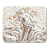 Deglogse Tappetino per mouse da gioco, Nude White Goddess Venus Fantasy Computer Graphic Beauty Woman Mouse Pad,Desktop Computers Mouse Mats,