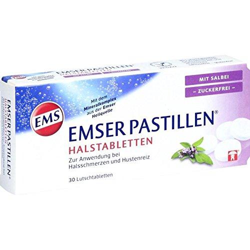 Emser Pastillen Halstabletten mit Salbei, zuckerfrei - Bei Halsschmerzen, Husten und starker...