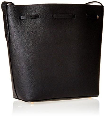 Twin Set Milano Damen As7pwr Handtasche, Eimerform, 11.5x27x23 cm Schwarz