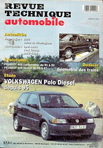 REVUE TECHNIQUE AUTOMOBILE N° 611 VOLKSWAGEN POLO DEPUIS 95 DIESEL 1.9 D ET 1.9 SDI par E.T.A.I.