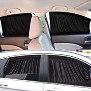 Easy to install Car Sun Shade Window SunShade Drape Visor Valance Curtain Windshield Shade Anti-mosquito Adjus