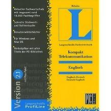 Langenscheidts Fachwörterbuch Kompakt Telekommunikation, Englisch, 2.1, 1 CD-ROM Englisch-Deutsch/Deutsch-Englisch. Für Windows 3.1/95/98/NT ab 3.51 oder MacOS ab 7.5. Rund 18.000 Fachbegriffe. Mit Plus-Paket
