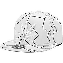 MENGMA Hombre Weed del casquillo del sombrero del Snapback del sombrero de Hip Hop de la calle gorra de béisbol del casquillo regalos BBOY