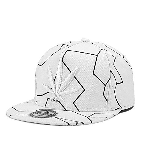 MENGMA Herren Weed-Hut-Kappen-Hysteresen-Straße Hip-Hop Hut Baseball-Mütze Geschenke Bboy Cap Einstellbar Schwarz - Bboy-baseball-cap