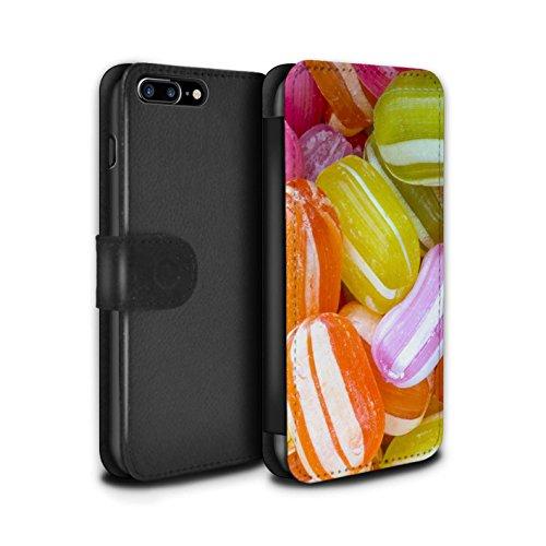 Stuff4 Coque/Etui/Housse Cuir PU Case/Cover pour Apple iPhone 7 Plus / Nerds Design / Confiserie Collection Berlingots