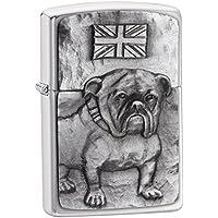Zippo Bulldog Emblem Windproof Lighter - Brushed Chrome
