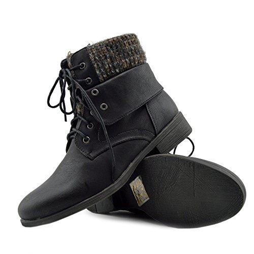 Pizzo DellEsercito Di 2 Signore Biker Piatto Donne Zip Kick Delle Combattimento Nero Stivaletti Militare Footwear Delle Lavoratore 18nxTfXwvq