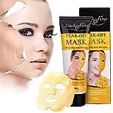 Collagen Maske, LuckyFine Goldenes Gesichtsmaske Hyaluronsäure Maske Whitening Wrinkle Lifting Feuchtigkeitsspendende Behandlung Pastenartig Peel Off Masken 100g
