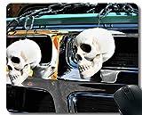 Yanteng Tappetino in Gomma Antiscivolo Personalizzato, Tronco Skull Halloween o Trattamento Inspirational Quote Mouse Pad