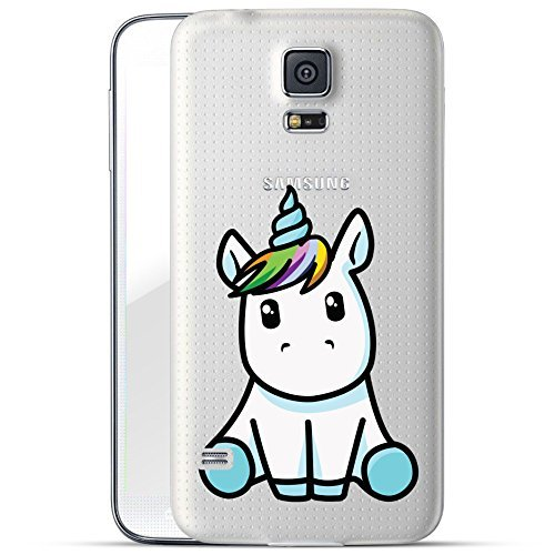 finoo | Samsung Galaxy S5 Mini Hard Case Handy-Hülle mit Motiv | dünne stoßfeste Schutz-Cover Tasche in Premium Qualität | Premium Case für Dein Smartphone| Einhorn