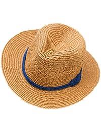 814e81f091765 Kanggest Sombrero de Paja del Verano de los Niños Sombrero del Sol del Jazz  para los