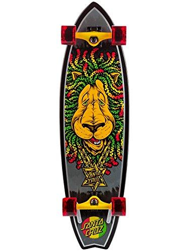 Santa Cruz Skateboard Longboard Lion Shark, Rasta, 10.0 Zoll, SANLOBRALISH
