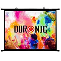 Duronic Simple Bar Wall Mountable HD Projection Screen for | School | Theatre | Cinema | Home Projector Screen