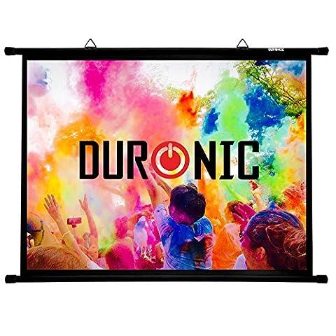 Duronic BPS50 /43 Ecran de projection avec barres et crochets pour vidéoprojecteur – Toile de 50 pouces ou 127 cm (100 x 76