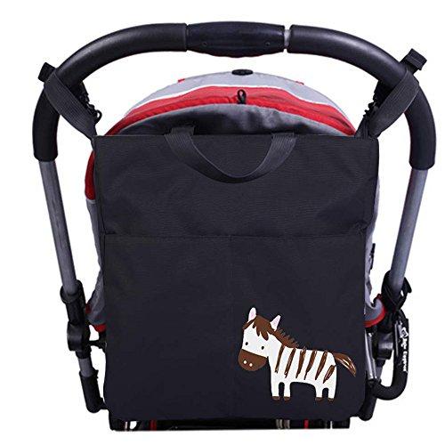 Preisvergleich Produktbild 3in1 Kinderwagen Organizer, AresKo Pram Buggy Windeltasche Organizer Wasserdichtes Handtasche Schultertasche für Milchflasche Windeln und andere Sachen