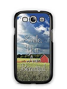 YuBingo Smile. You are Beautiful Designer Mobile Case Back Cover for Samsung Galaxy S3