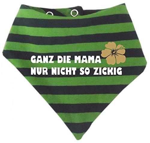 Baby Halstuch gestreift (Farbe gruen-petrol (Gr. 2 (74-98) Ganz die Mama nur nicht so zickig