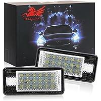 Win Power de alimentación LED licencia número placa luz Kit color blanco no error lámpara 18 SMD, 2 Piezas