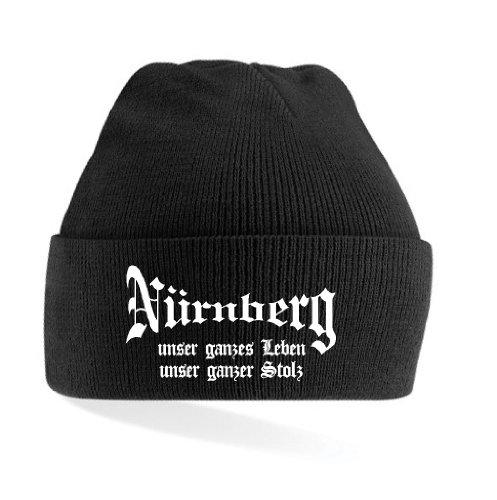 Nürnberg Ultras Leben & Stolz Strickmütze|schwarz