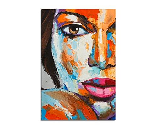 Paul sinus art immagine colorata moderna – ritratto femminile, 90 x 60 cm