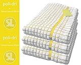 Poli Dri Premium Quality Kitchen Tea Towels by Lamont, YELLOW, 3 Pack