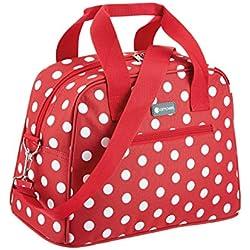 Coolmovers 11,5 litros Nevera portátil Estilo Bolsa de Viaje, Rojo diseño de Lunares
