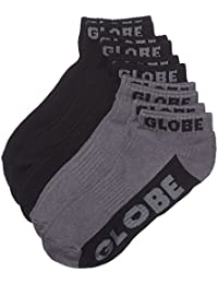 Pack Of 5 Ankle Socks Globe New Tradie Noir Gris (Default , Noir)