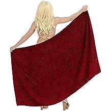 La Leela anthemion rayonne femmes jupe maillot de bain Bikini Sarong 78x39 pouces