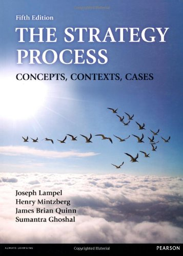 The Strategy Process:Concepts, Contexts, Cases