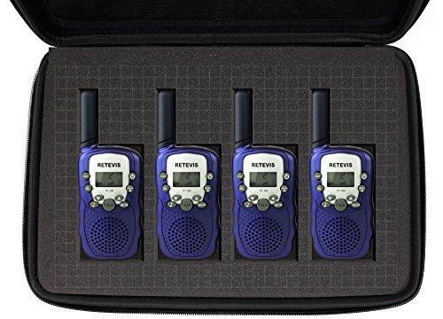 DURAGADGET Custodia Personalizzabile per Walkie Talkie Retevis RT-388 / RT-602 / RT-628 / Baofeng BF-888S / Floureon/Motorola TLKR T81 / T80 / T60 / T50 / T40 / Quadpack - con Tracolla + M