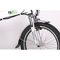 FSE Vélo Électrique Pliant 20 Pouces Mixte Adulte, Blanc