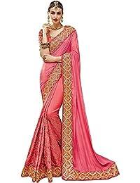 Nirjas Designer Women's Clothing Kanjivaram Saree Latest Party Wear Design Free Size Saree With Blouse Piece(Sarees...