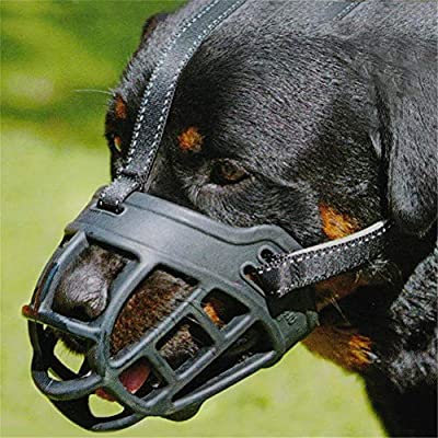 Dog Muzzle Soft Silicone Basket Mask Muzzles to Prevent Biting Chewing Barking Breathable Adjustable for Small Medium Large Breeds Dogs by Sobotoo