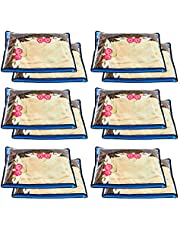 Amazon Brand - Solimo 24 Piece Non Woven Fabric Single Saree Cover Set, Blue