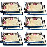 Solimo 24 Piece Non Woven Fabric Single Saree Cover Set, Blue