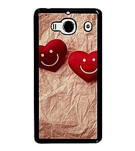 Fuson Premium 2D Back Case Cover Cute Hearts With Black Background Degined For Xiaomi Redmi 2S::Xiaomi Redmi 2::Xiaomi Redmi 2 Prime