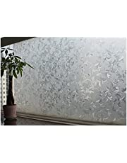 Store2508® Static Decorative Frosted Window Glass Film. (Non Adhesive). (45x100 cm)