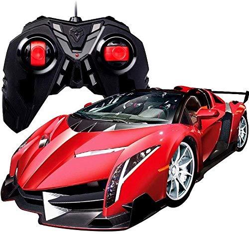 MECFIGH 1.16 High-Speed-Sport-Auto-Elektronik Rennen Modell Driften Funk Wiederaufladbare 4WD Fernsteuerungsauto- for Junge Kid Geburtstags-Geschenk-Rot