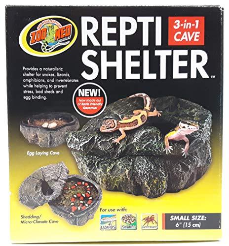 Zoo Med RC-30 Repti Shelter 3 in 1 Höhle für Reptilien und Amphibien SM