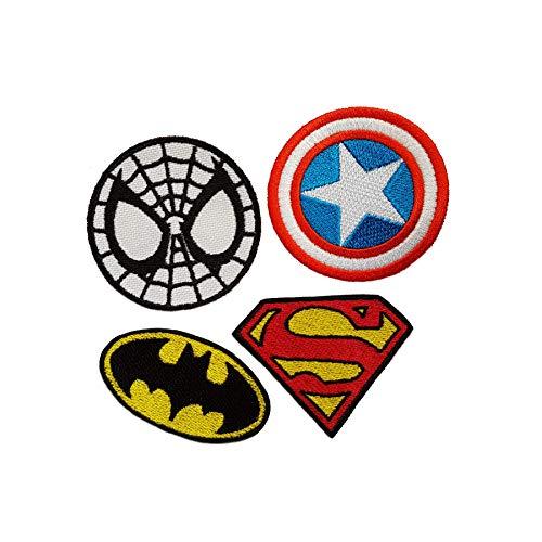 Kostüm Individuelle Superhelden - Emporium Stickerei Superhelden zum Aufbügeln, Bestickt, für Partys, Kostüme, Jeans, Aufnäher, Cartoon-Jacke, Badge Bag, Multi, XXL