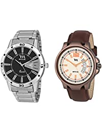 Watch Me Day And Date Analog Watches Gift Combo Set Of 2 Watches For Men And Boys DDWM-017-019bys