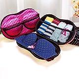 MOSHTU Portable Bra and Panty, Lingerie Organiser Travel Bag Underwear Bra Storage Case