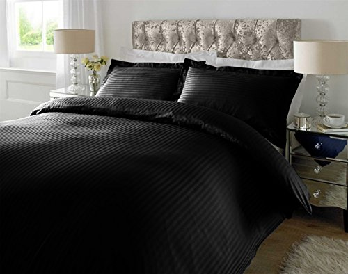 Ahmedabad Cotton 220 TC Striped Cotton Double Duvet Cover with 2 Pillow...