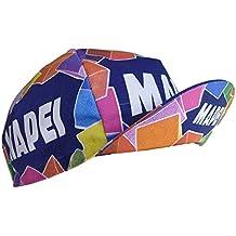 Retro cycle team cap Vintage fixie Mapei Multi coloured by APIS