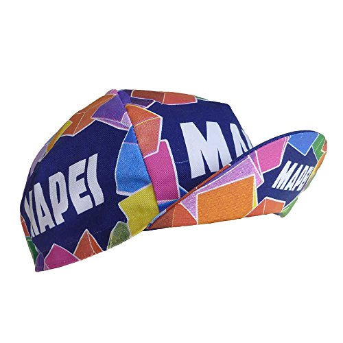 RETRO CYCLE TEAM CAP VINTAGE FIXIE MAPEI MULTI COLOURED BY APIS