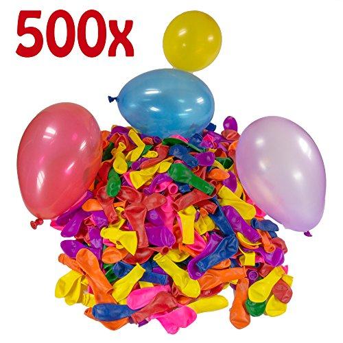 Preisvergleich Produktbild Belmalia 500 x Wasserbomben Mega-Pack Luftballons bunt Wasser Bomben Luft Ballon Wasserballon Set rot gelb lila blau orange pink grün Garten Spiel