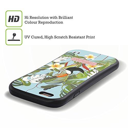 Ufficiale Turnowsky Flora e Fauna Tropicale 2 Havannah Case Ibrida per Apple iPhone 7 / iPhone 8 Uccello Floreale